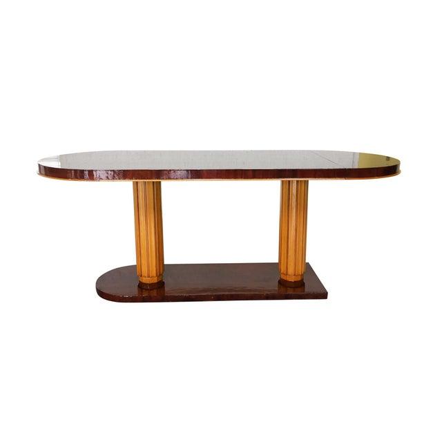 Gilbert Rohde Gilbert Rohde Art Deco Oval Drop-Leaf Desk For Sale - Image 4 of 13
