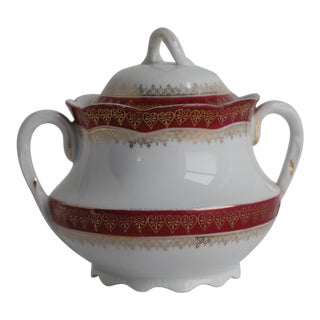 Mid 20th Century Bassett Limoges BSS60 Lidded Sugar Bowl For Sale