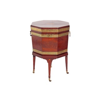 George III Mahogany and Brass Cellarette For Sale