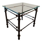 Image of Giacometti Styled Hand-Wrought Iron Side Table, Vintage For Sale