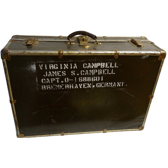 Vintage World War II Soldier's Trunk - Image 1 of 4