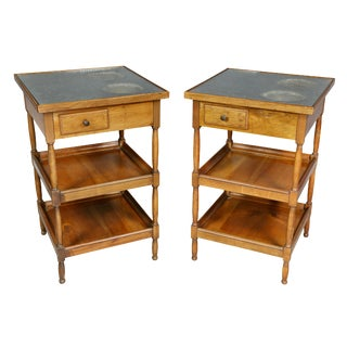 Pair of Charles X Fruitwood Rafraichissoir Tables For Sale