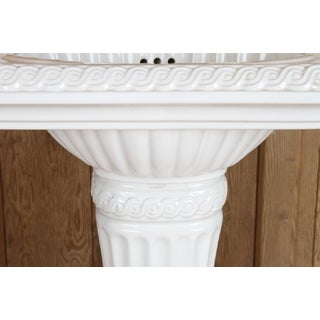 Sherle Wagner China Pedestal Sink With White Porcelain and Unlacquered Brass Faucet Preview