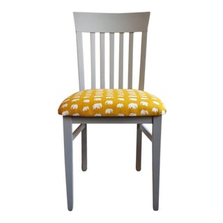 1970s Vintage Chair With Svenskt Tenn Fabric For Sale