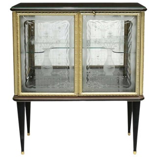 Italian Midcentury Cocktail Cabinet For Sale