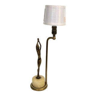 Art Deco Woman Figural Lamp For Sale