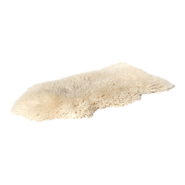 "Sheep Skin Rug - 4'2"" x 2'3"" - Image 1 of 5"
