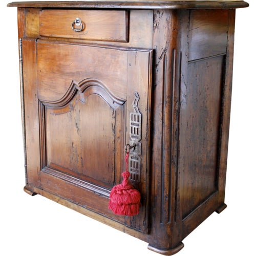 Louis XV Walnut Small Cabinet For Sale - Image 10 of 10