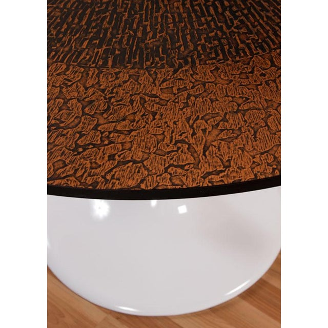 Restored Tulip Table With Copper and Black Mosaic - Image 5 of 7