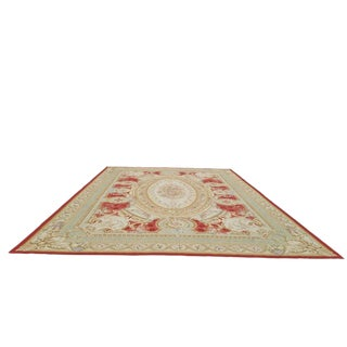 Traditional Aubusson Handmade Rug - 13' X 20' Size Cat. 12x18 13x20 For Sale