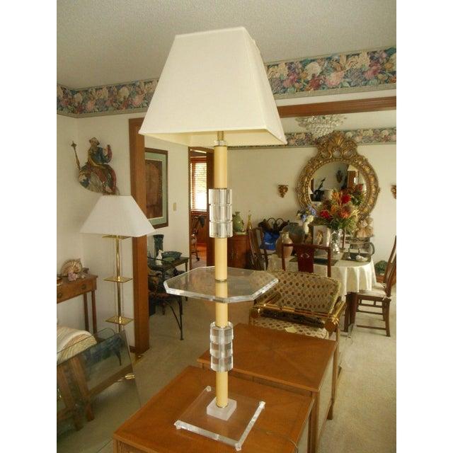 Mid-Century Modern Lucite Floor Lamp - Image 2 of 7
