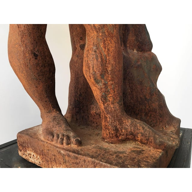 Early 20th Century Italian Serpentine Figure of the Farnese Hercules For Sale - Image 5 of 10