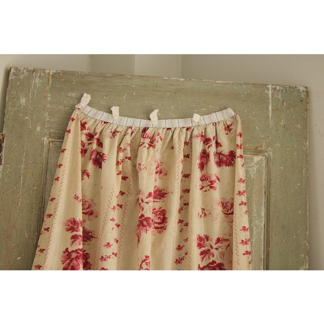 Shabby Chic Shabby Chic Faded Floral Drape Curtain For Sale - Image 3 of 11