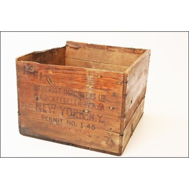 Wood Vintage Scotch Whiskey Wood Shipping Crate For Sale - Image 7 of 11