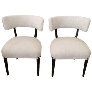 Mid-Century Modern White Side Chairs - A Pair For Sale
