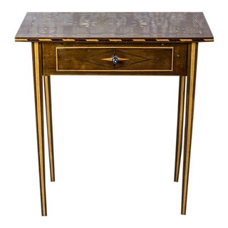 19th-Century Inlaid Side Table For Sale