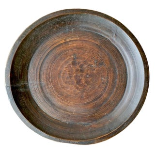 Large 19th Century Turned Wood Tray For Sale