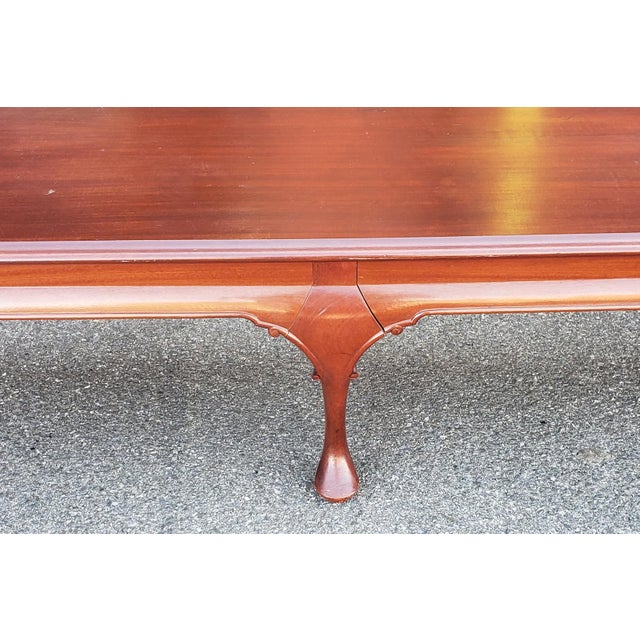 Bench Made Mahogany Queen Anne Style Low & Long Hallway Bedroom Bench