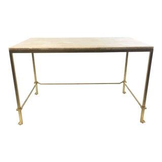 Currey & Co. Modern Honey Onyx Delano Writing Desk For Sale