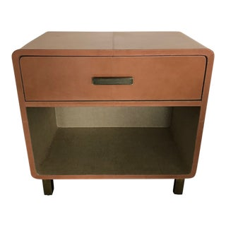 Made Goods Dante Double Nightstand in Aged Camel Leather