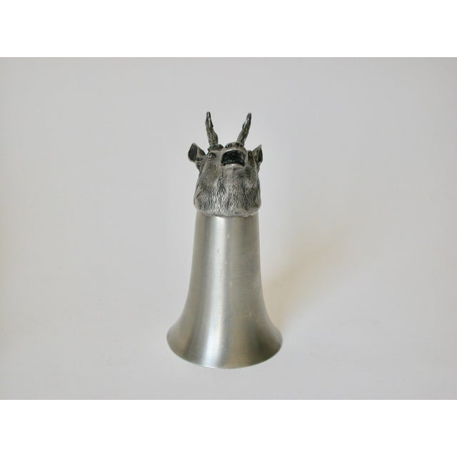 Stag Pewter Stirrup Cups - Set of 7 For Sale - Image 4 of 11