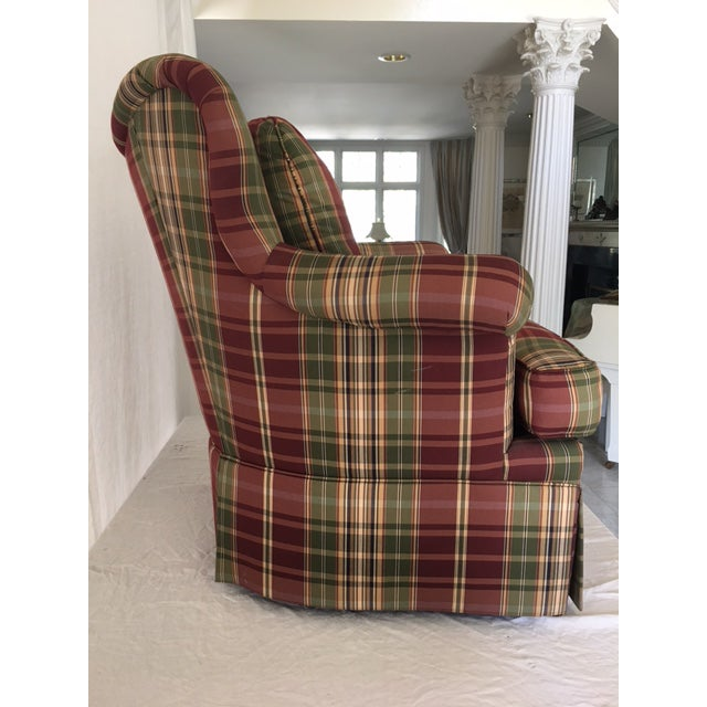 Sherrill Furniture Sherrill Plaid Accent Chair For Sale - Image 4 of 8
