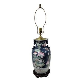 Vintage Asian Stork Vase/Lamp