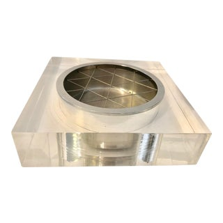 Att. Gilbert Rohde Lucite Metal Ashtray For Sale