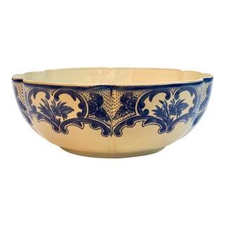 Tiffany & Co. Delft Blue Ceramic Serving Centerpiece Bowl For Sale
