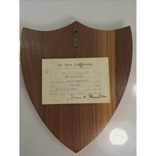 1950s Delta Zeta Sorority Wall Plaque - Image 7 of 9