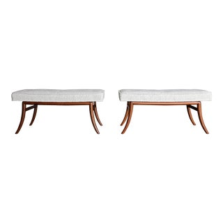 t.h. Robsjohn-Gibbings Saber Leg Benches for Widdicomb Circa 1955 - a Pair For Sale