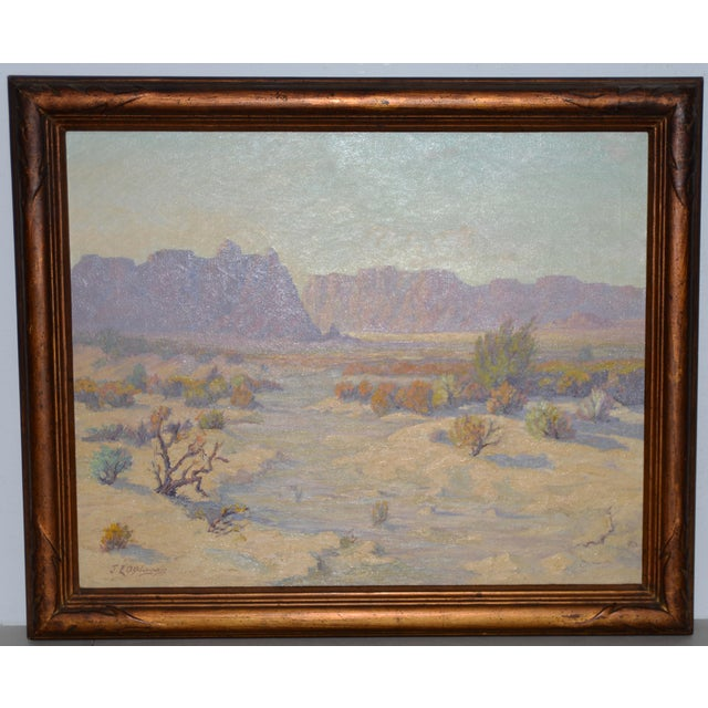 """Red Mesa, Az"" Original Desert Landscape Painting C.1940s For Sale - Image 13 of 13"