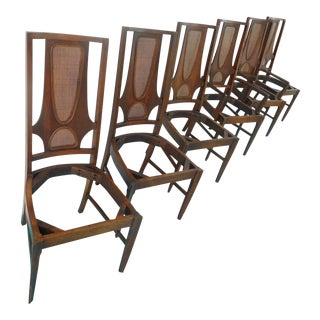 1960s Mid-Century Modern Broyhill Brasilia II Dining Room Chairs - Set of 6 For Sale
