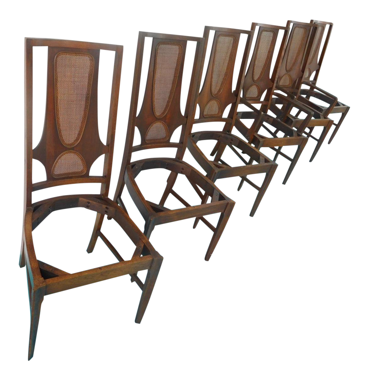 1960s Mid Century Modern Broyhill Brasilia II Dining Room Chairs   Set Of 6  For