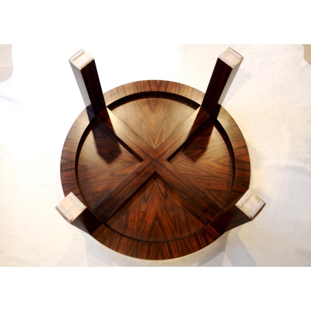 Art Deco Jean Michel Frank Style Circular Wood Coffee Table - Image 6 of 9