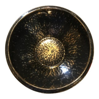 Stangl Black and Gold Hollywood Regency Bowl For Sale