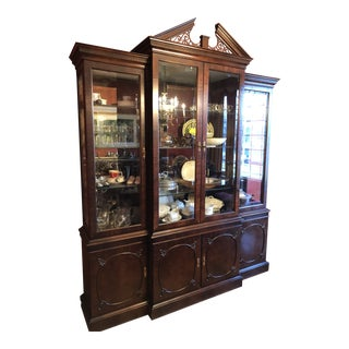 1990s Traditional Century Furniture Co. Mahogany China Cabinet For Sale