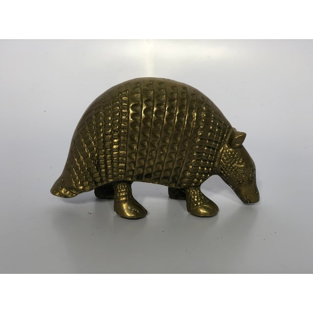 Vintage Brass Armadillo Figurine For Sale - Image 4 of 6