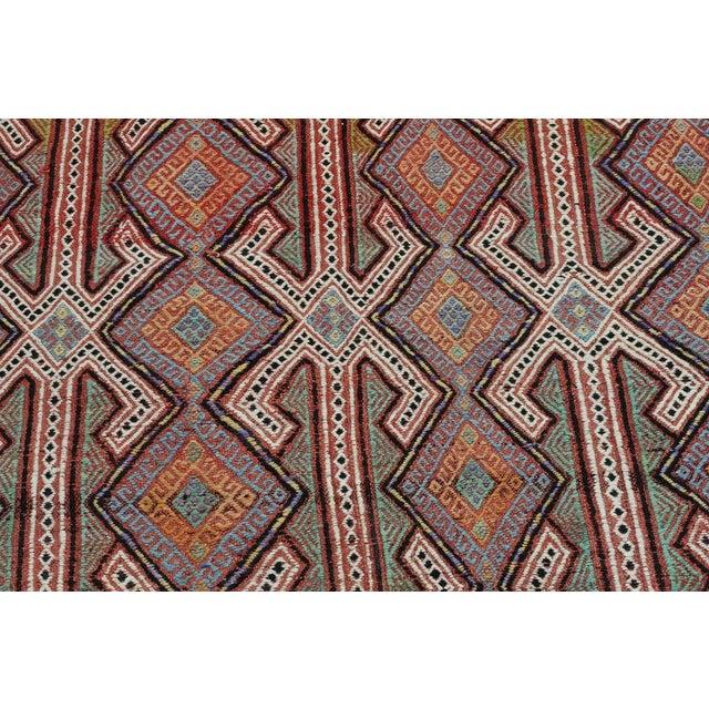 """Textile Vintage Turkish Kilim Rug-6'4'x8'7"""" For Sale - Image 7 of 13"""