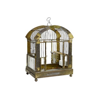 1920s Birdcage withCut Glass Panels For Sale