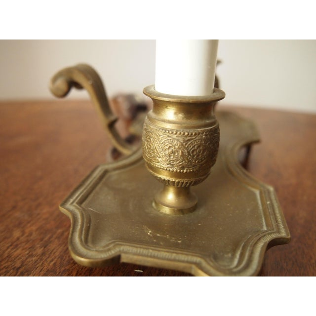 1960s Italian Brass and Tole Bouillotte Lamp For Sale - Image 5 of 6