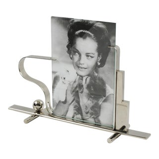 French Art Deco Skyscraper Chrome Picture Frame For Sale