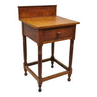 19th C. British Colonial 1 Drawer Washstand/Side Table For Sale