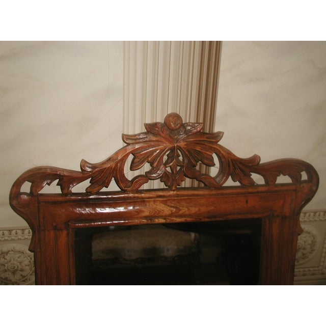Traditional Carved Wooden Mirror 19th Century For Sale - Image 3 of 8