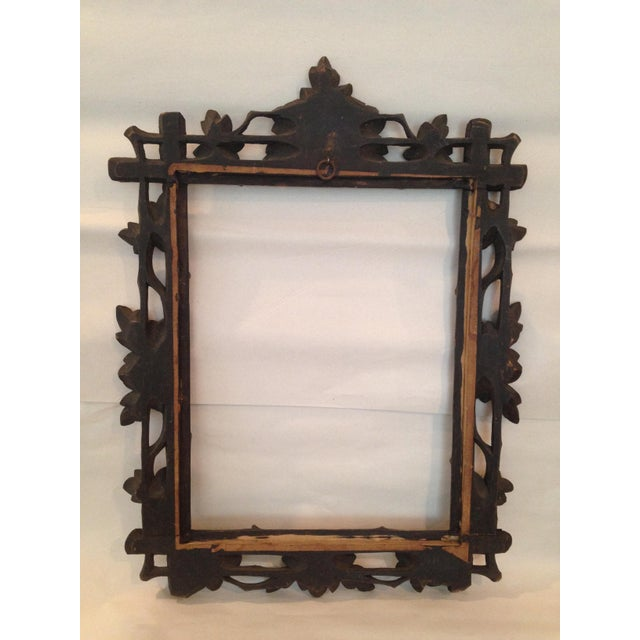 Antique Carved Black Forest Frame - Image 6 of 9
