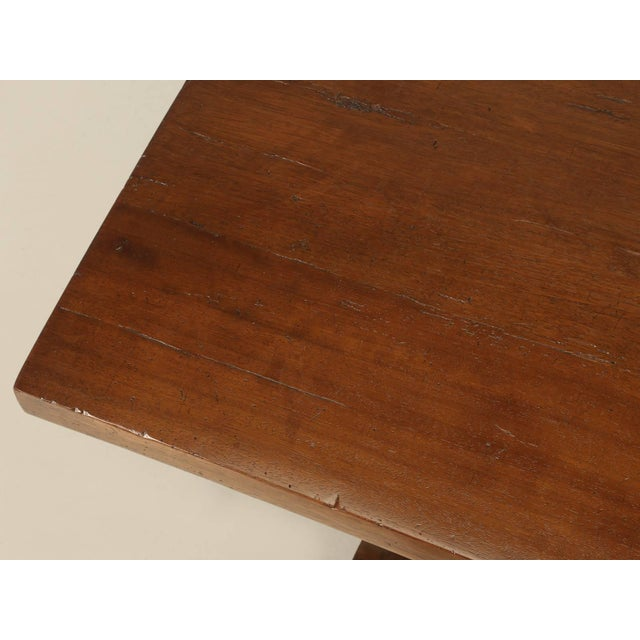 Country French Trestle Table in Solid Mahogany For Sale - Image 3 of 11