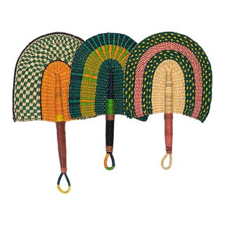 Ghanan Handwoven Bolga Fans - Set of 3
