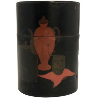 20th Century Japanese Hand Painted Tea Caddy For Sale