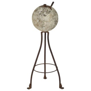 Rustic Stone and Iron Sundial For Sale