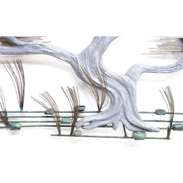 Curtis Jere 1980s Curtis Jere Bonsai Tree Wall Sculpture For Sale - Image 4 of 7
